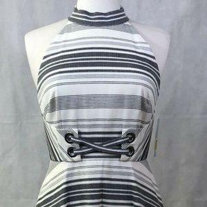 New Antonio Melani Dress Size 4 High Neck Halter